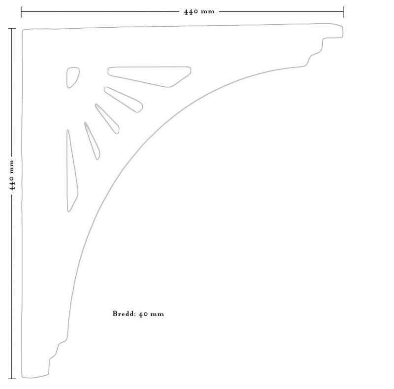 Trekonsoll - konsoll sveitserstilpynt IV - arvestykke - gammeldags dekor - klassisk stil - retro