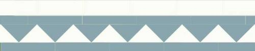 Klinkerfris - Winckelmans 150 mm ljusblå/vit