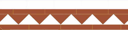 Tile border - Winckelmans 150 mm havana/white