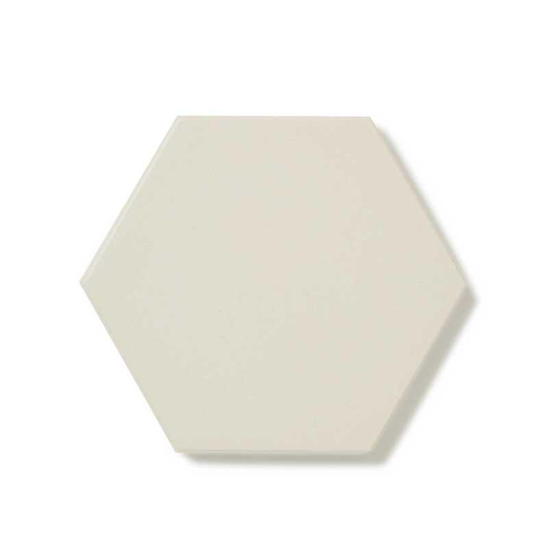 Klinker - Hexagon 10x10 cm vit