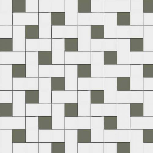 Winchester - Victorian floor tiles - Vit/Australian green