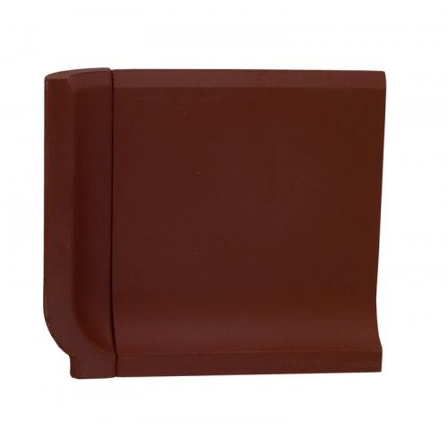 Tile - Victorian inner corner for coved skirting 10 x 10 red