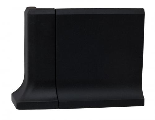 Tile - Victorian external corner for coved skirting 10 x 10 black