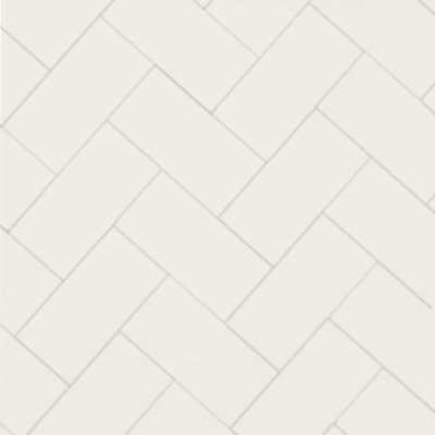Durham - Victorian floor tiles - Fiskben 10 x 20 cm vit
