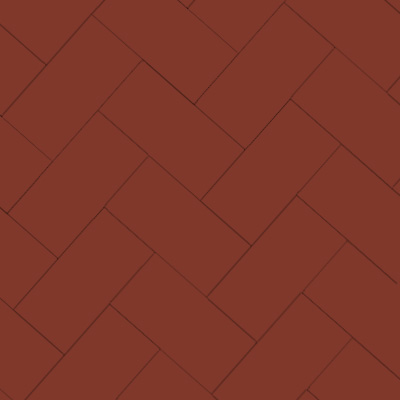 Durham - Victorian floor tiles - Fiskben 10 x 20 cm röd
