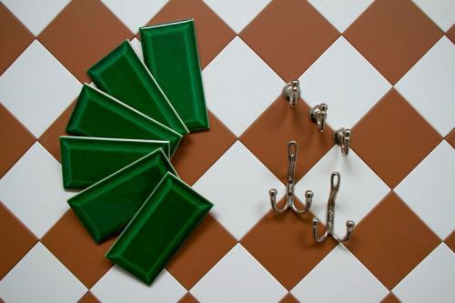 Kakel Victoria - Fasad kant 7,5 x 15 cm buteljgrön - sekelskiftesstil - gammaldags inredning - klassisk stil - retro