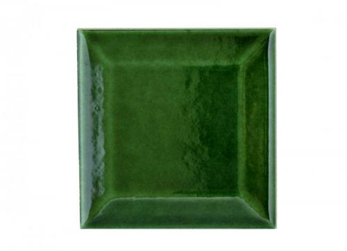 Wall tiles Victoria - Beveled 7.5 x 7.5 cm bottle green, glossy