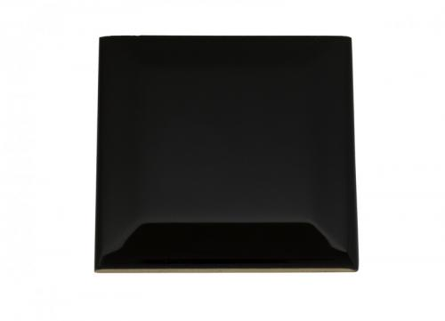 Wall tiles Victoria - Beveled 7.5 x 7.5 cm black, glossy