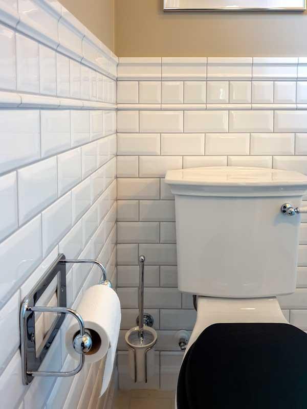 Flis Victoria - Vegg fasett 7,5 x 7,5 cm hvit, blank - arvestykke - gammeldags dekor - klassisk stil - retro - sekelskifte