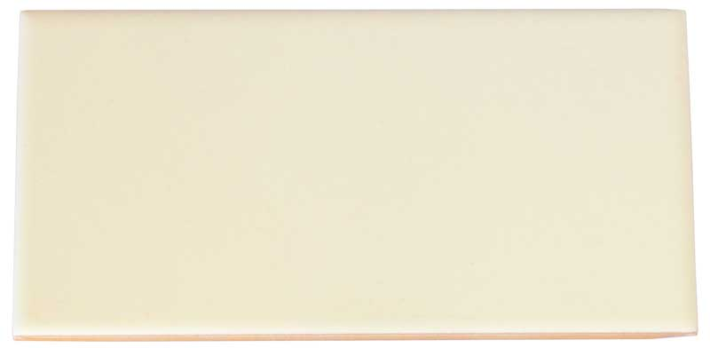 Flis Victoria - 7,5 x 15 cm elfenben hvit, blank - arvestykke - gammeldags dekor - klassisk stil - retro - sekelskifte