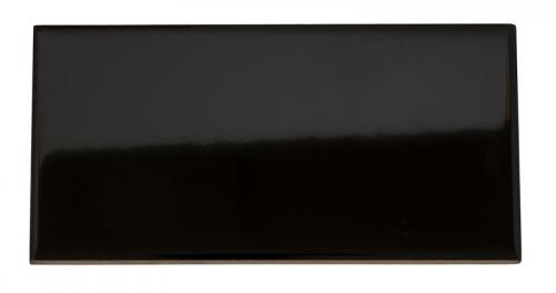 Wall tile Victoria - 7.5 x 15 cm black, glossy