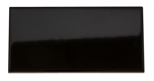 Klassiskt rektangulärt kakel - blank svart - sekelskifte - gammal stil - klassisk inrending - retro