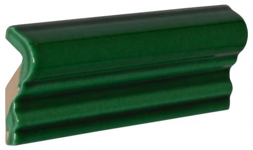 Tile molding Victoria - 5 x 15 cm bottle green, glossy
