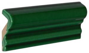 Kakel Victoria - Bröstlist 5 x 15 cm buteljgrön - sekelskiftesstil - gammaldags inredning - klassisk stil - retro