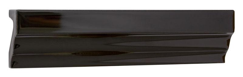 Tile Victoria - Tile molding 3,5 x 15 cm black, glossy