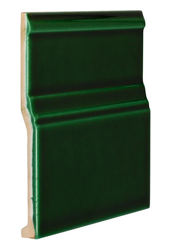 Kakel Victoria - Golvsockel 15 x 15 cm buteljgrön - sekelskiftesstil - gammaldags inredning - klassisk stil - retro