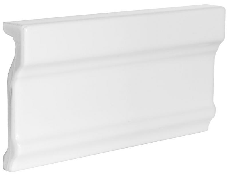 Tile Victoria - Tile molding 7,5 x 15 cm white, glossy