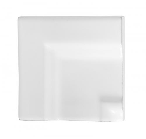 Tile Victoria - Frame Corner piece for tile mouliding 7,5 x 15,  white