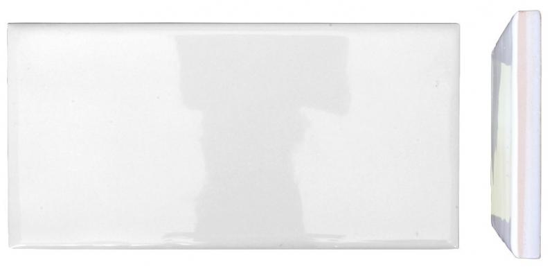 Wall tiles - Underground white 7.5 x 15 cm shiny - wavy - classic style - oldschool