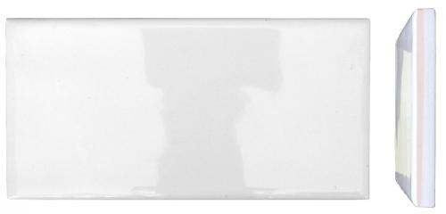 Wall tiles - Underground white 7.5 x 15 cm shiny, wavy