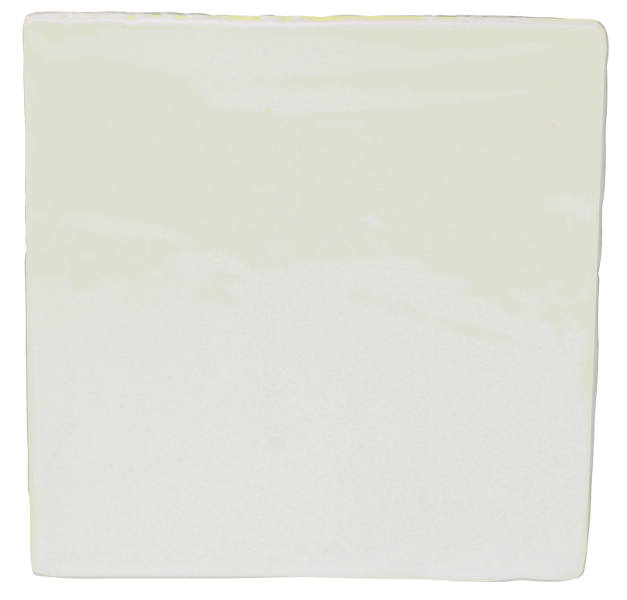 Tiles - White 13 x 13 cm shiny, antique