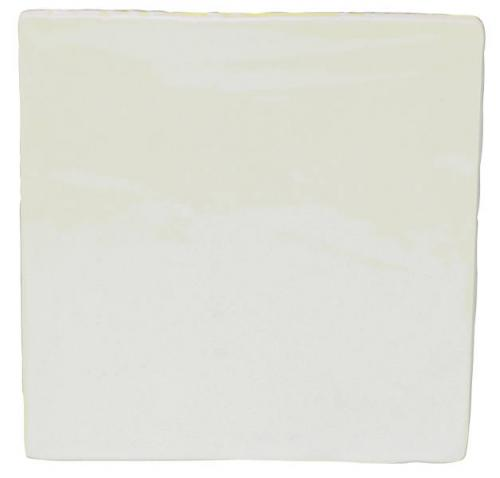 Tiles - White 13 x 13 cm shiny, antique
