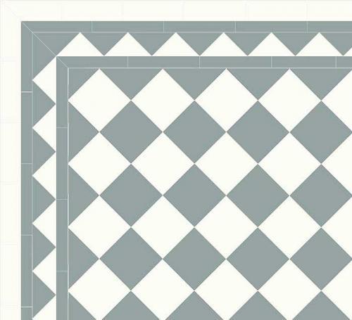 Granitklinker - Schackrutigt 15 x 15 cm gråblå/vitt Winckelmans