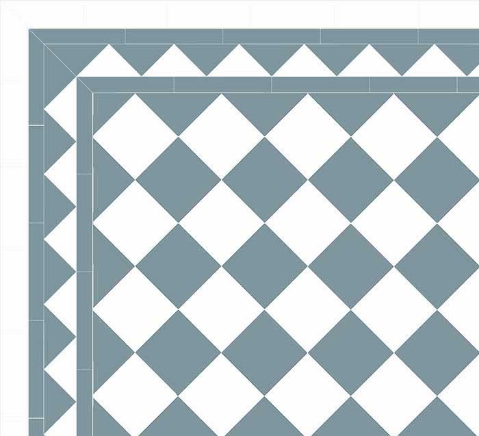Floor tiles - 15 x 15 cm light blue/white Winckelmans