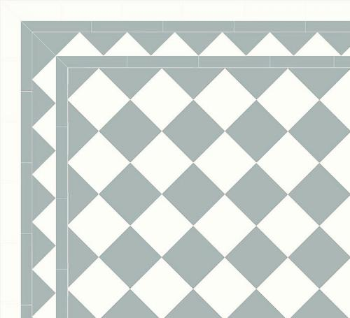 Floor tiles - 15 x 15 cm blue/white Winckelmans