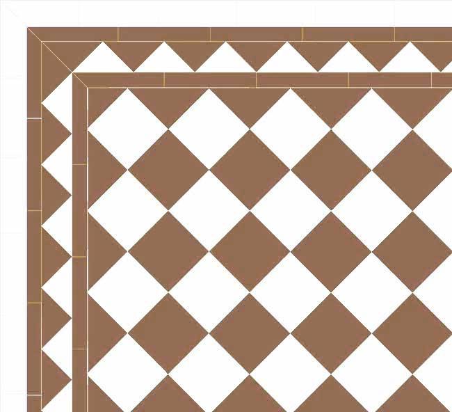 Granitklinker - Schackrutigt 15 x 15 cm kaffebrun/vitt Winckelmans