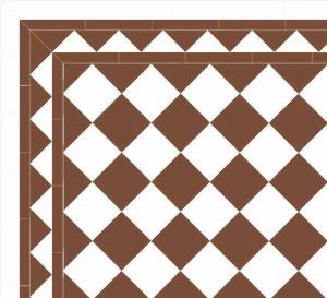 Granitklinker - Schackrutigt 15 x 15 cm chokladbrun/vitt Winckelmans