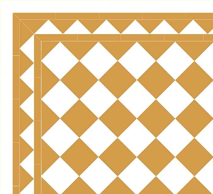 Granitklinker - Schackrutigt 15 x 15 cm ockragul/vitt Winckelmans