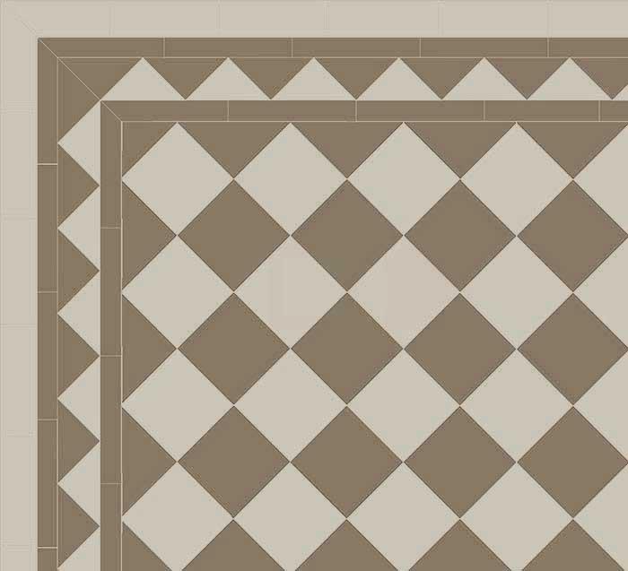 Granitklinker - Schackrutigt 15 x 15 cm pärlgrå/grå Winckelmans
