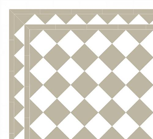 Floor tiles - 15 x 15 cm pearl grey/white Winckelmans