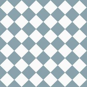 Granitklinker - Schackrutigt 10 x 10 cm ljusblå/vit