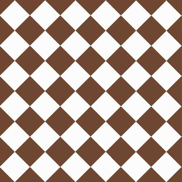 Granitklinker - Schackrutigt 10 x 10 cm chokladbrun/vit