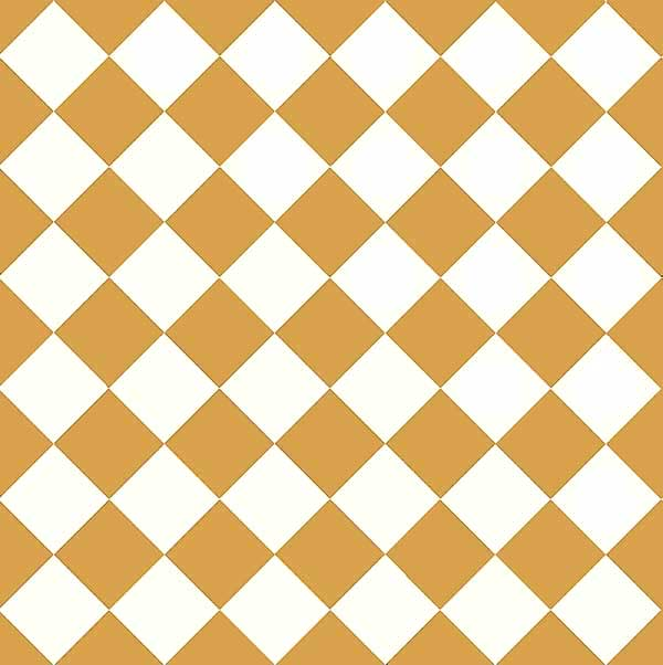 Granitklinker - Schackrutigt 10 x 10 cm ockragul/vit