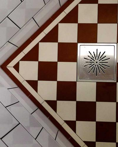 Tile border - Winckelmans 50 mm red/white