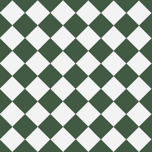 Floor tiles - 10 x 10 cm dark green/white
