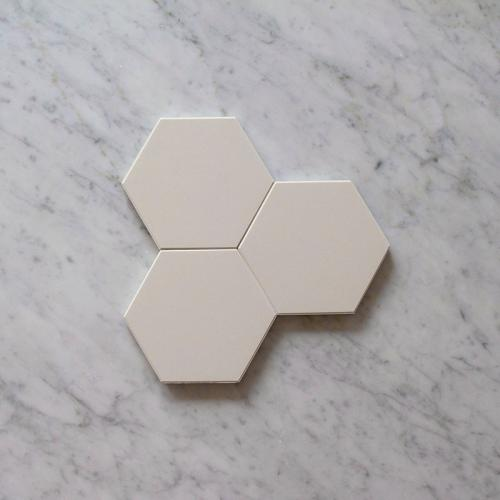 Floor tiles - Hexagon 10 x 10 cm white Winckelmans
