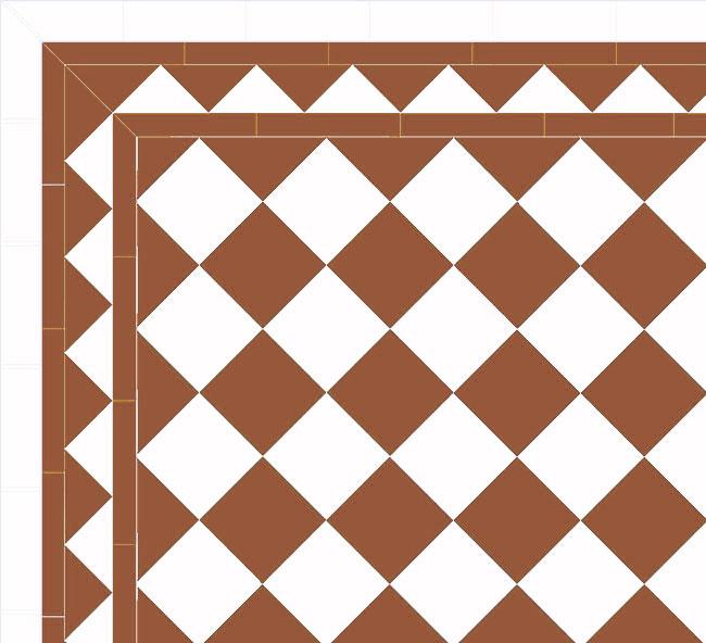 Floor tiles - 15 x 15 cm havana/white Winckelmans