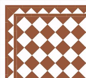 Granitklinker - Schackrutigt 15 x 15 cm havana/vit Winckelmans