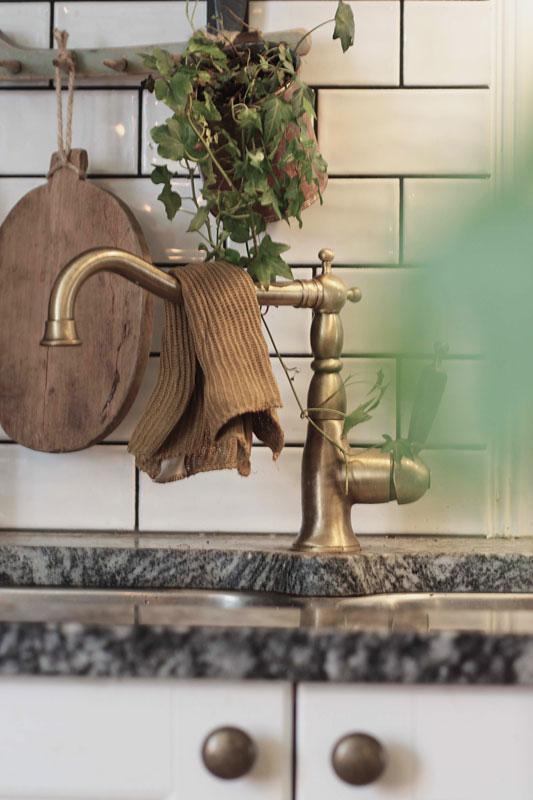 Köksblandare - Oxford brons/trä - gammaldags inredning - klassisk stil - retro -sekelskifte