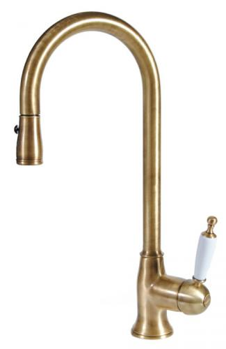 Kitchen mixer - Oxford bronze hand shower - oldschool style - retro