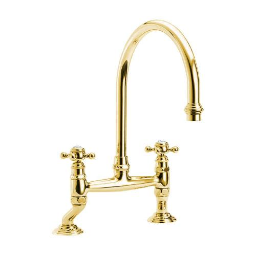Kitchen Mixer - Julia 2-hole brass