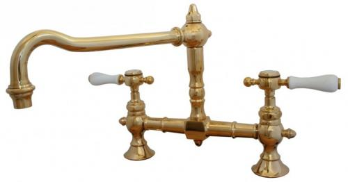 Kitchen Mixer - Horus Victoria 2-hole brass