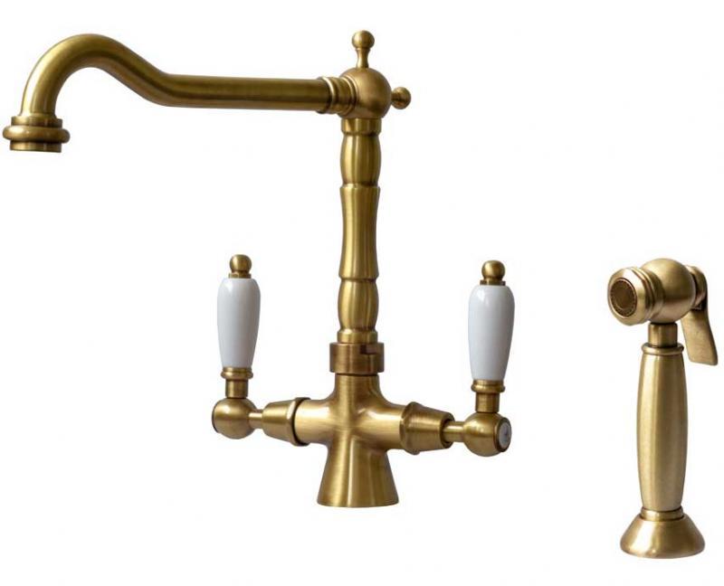 Kitchen mixer - Chelsea bronze with separate hand spray