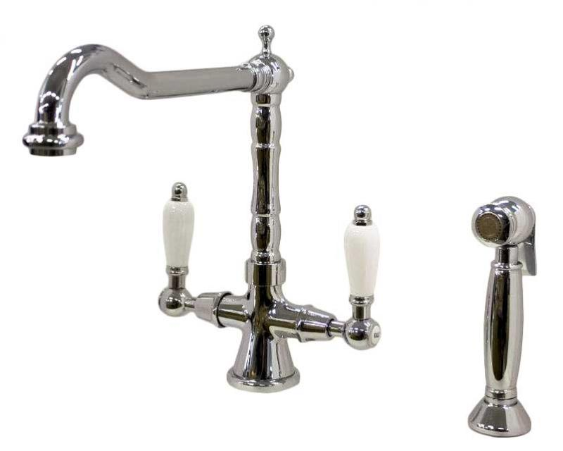 Kitchen mixer - Chelsea chrome with separate hand spray