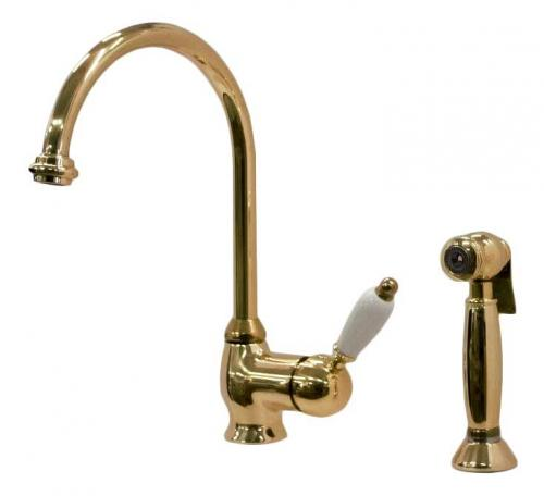 Kitchen mixer - Cambridge brass with hand spray