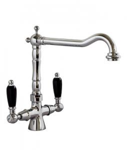 Kitchen mixer - Chelsea chrome with black details